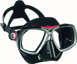 Aqua Lung by Technisub Look 2 Mask, Black Red - 1