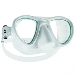 Taucherbrille Steel erhältlich in 4 verschieden Farben & verspiegelt, Farbe:Weiß - 1