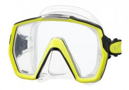 Tusa M1001 Freedom HD Scuba Diving Mask - Flash Yellow - 1